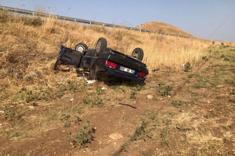 Şarampole devrilen araçtaki çifti ölüm ayırdı