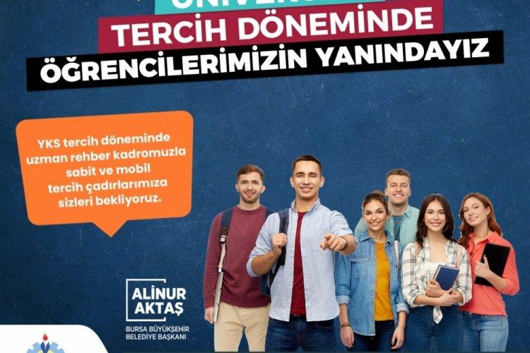 Bursa Büyükşehir Belediyesi, üniversite tercihlerinde öğrencilerin yanında