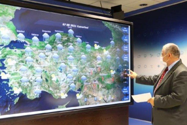 Antalya ve çevresi için yağış tahmini