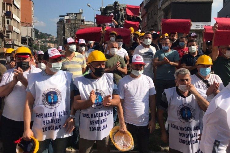 Zonguldak'ta maden işçilerinden 'düşük ücret' eylemi!