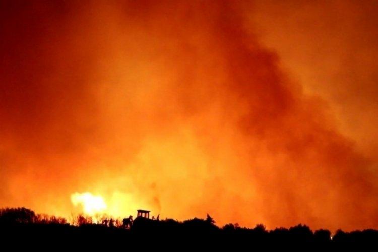 Alaşehir Belediyesi yangın bölgesinde yardıma koştu