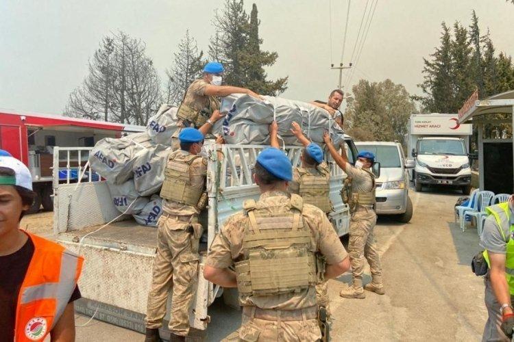 Jandarma 2 bin 630 personelle yangınlara müdahale ediyor