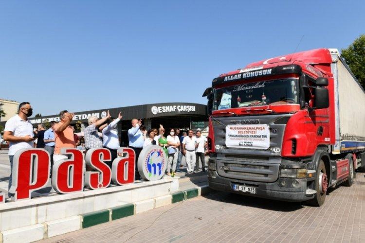Bursa Mustafakemalpaşa'dan Muğla'ya yardım eli