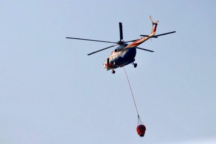 Bakan Soylu: Sikorsky helikoptere su sepeti takılarak yangın söndürme filosuna eklendi
