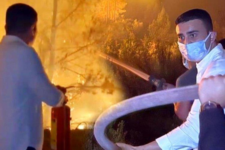 CZN Burak'ın yangın söndürme görüntüleri tepki çekti