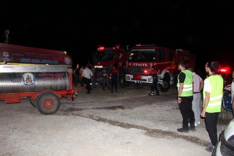 Denizli Buldan'daki yangın 3. kez kontrol altında