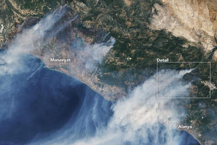 NASA Türkiye'nin uydu fotoğraflarını yayınladı