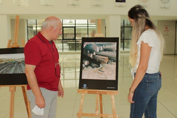 Bursa'da genç inşaat mühendisleri şantiyeyi fotoğrafa yansıttı
