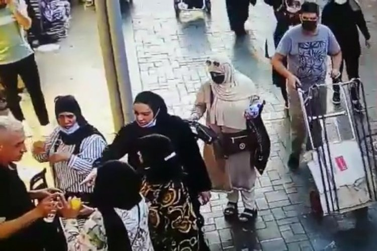 Bursa Uzunçarşı'daki hırsızlık kameralara yansıdı! (ÖZEL HABER)