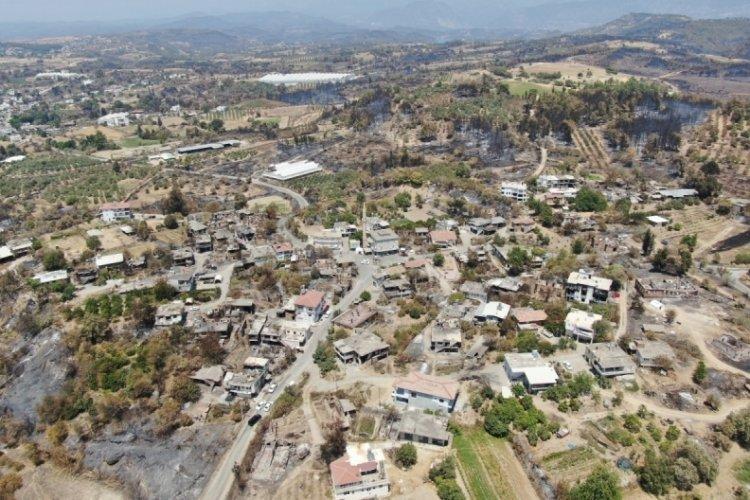 Manavgat 9 gün süren yangın gökyüzünden görüntülendi