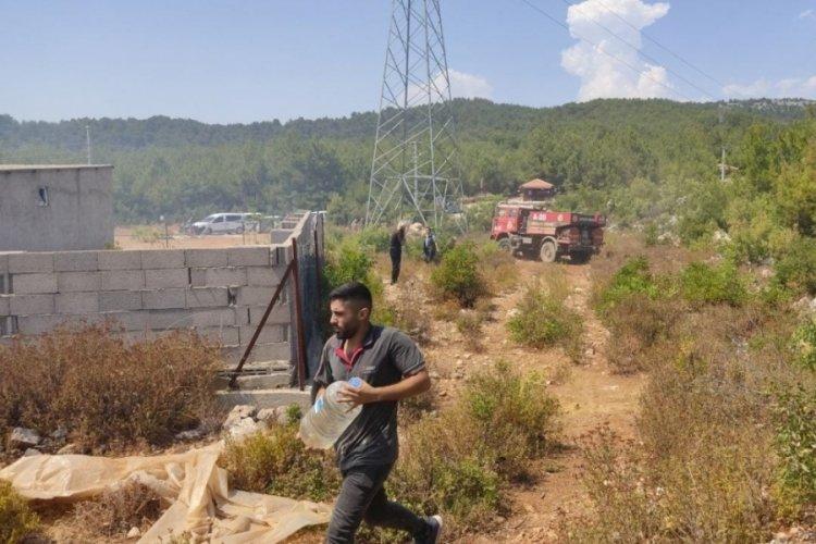 Alanya'da meydana gelen yangın müdahale sonucu söndürüldü