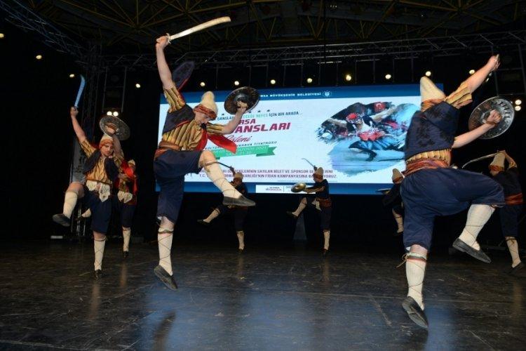 Bursa'da halk dansları ekiplerinden duygulandıran destek