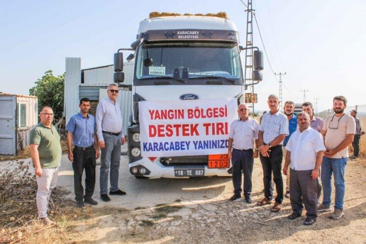Bursa Karacabey'den Milas'a yardım eli uzandı