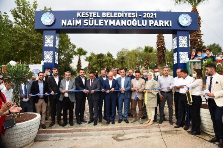 Bursa Kestel'de Naim Süleymanoğlu Parkı hizmete açıldı