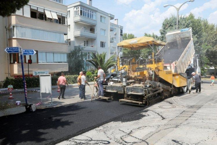 Bursa Mudanya'da asfalt çalışmaları sürüyor