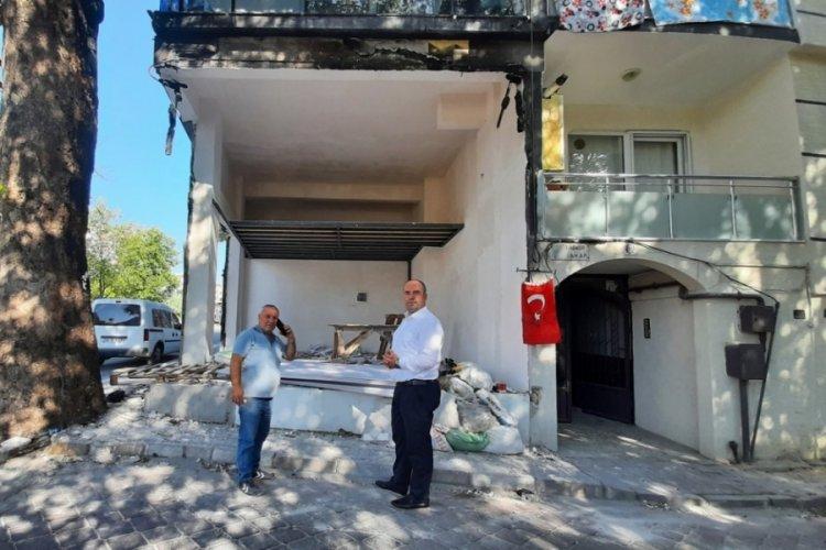 Bursa Büyükşehir Belediye Başkanı Aktaş'tan dükkânı kundaklanan Mudanya esnafına destek