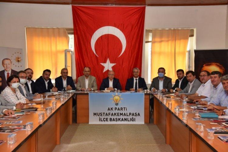 AK Parti Bursa İl Başkanı Gürkan ilçe başkanları ile bir araya geldi
