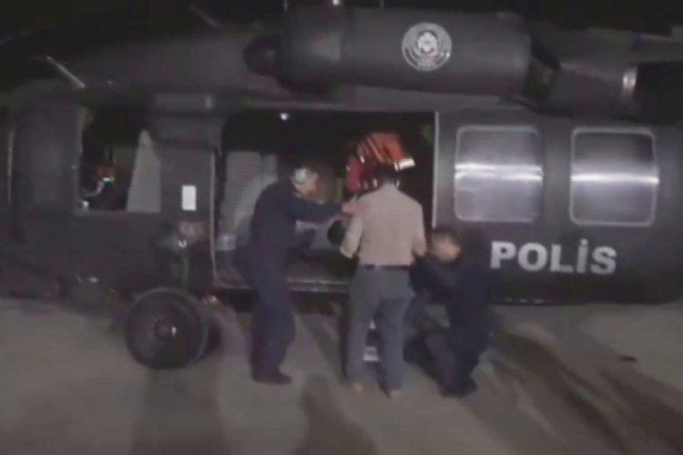 Polis helikopteri bu kez 2 yaşındaki bebek için havalandı