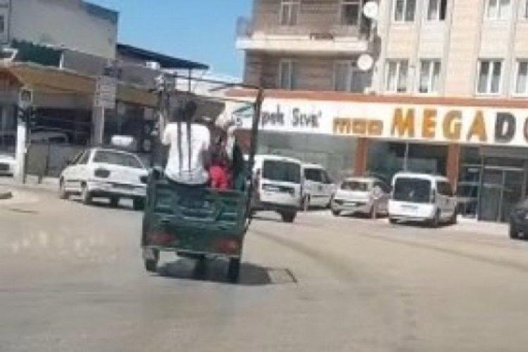 Bursa'da korkutan tehlikeli yolculuklar!