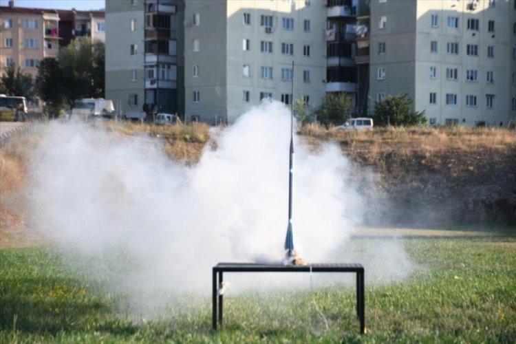 Bursa İnegöl'de roket ve drone yarışması göz kamaştırdı