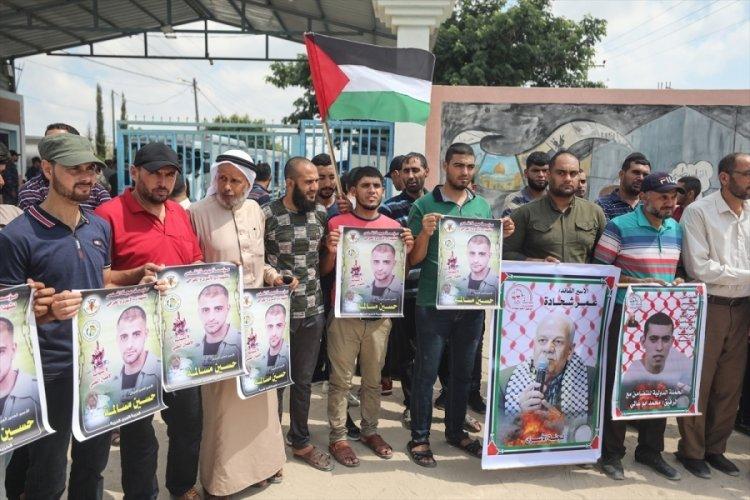 """İsrail'in Filistinlilere yönelik """"idari tutukluluk"""" uygulaması protesto edildi"""