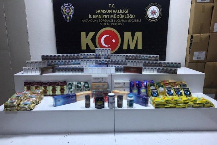 Samsun'da yabancı uyruklu bir kişi kaçak ürünlerle yakalandı