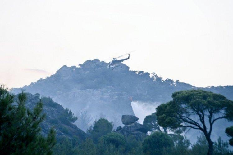 Aydın Karpuzlu'da orman yangını kontrol altında