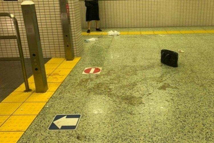 Tokyo metrosunda korkunç saldırı! Yolculara asit döktü