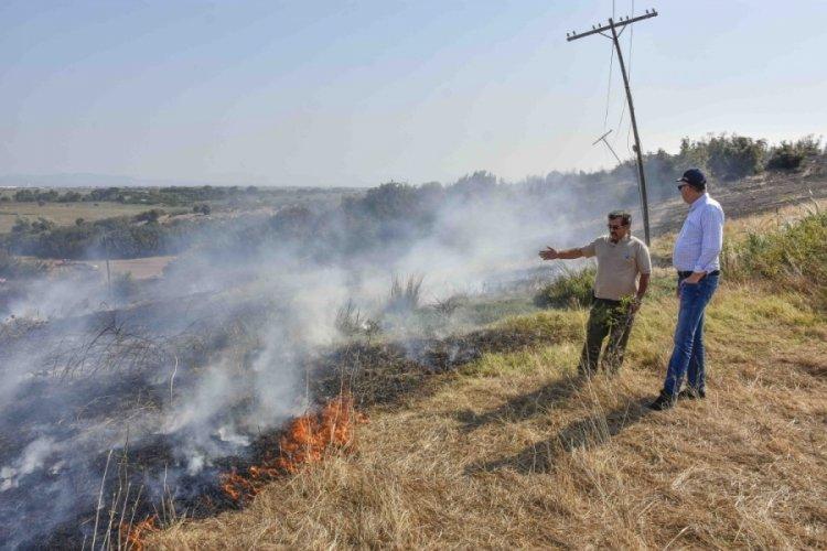Bursa Karacabey Belediye Başkanı Özkan'dan yangın sonrası vatandaşlara dikkatli olma çağrısı