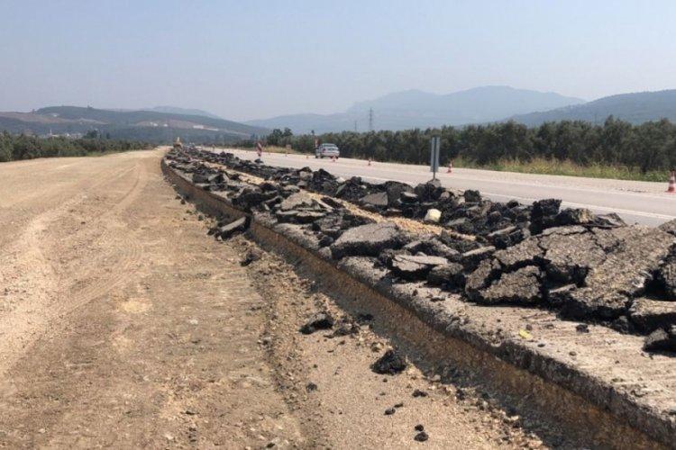 Bursa'da TOGG yolundaki yeni asfaltın kazılmasına tepki