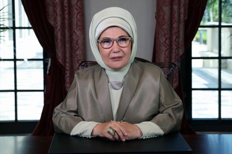 Emine Erdoğan, Kiev Lider Eşleri Zirvesi'ne videolu mesaj ile katıldı