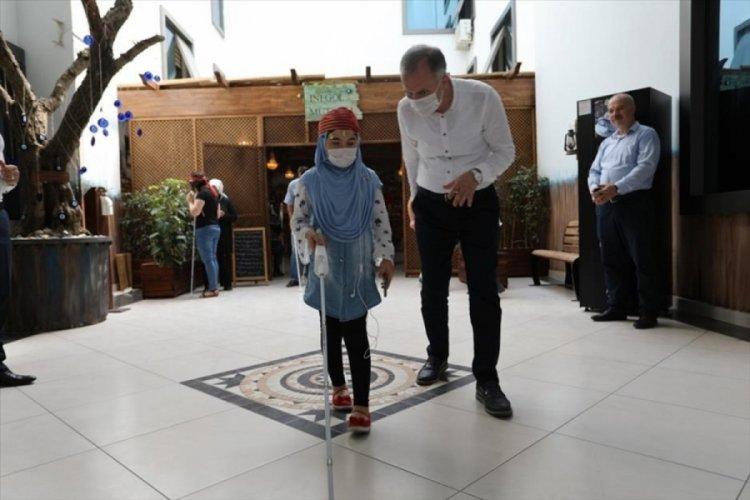 Başkan Taban'dan, Bursa İnegöl'de 24 görme engelli vatandaşa ziyaret
