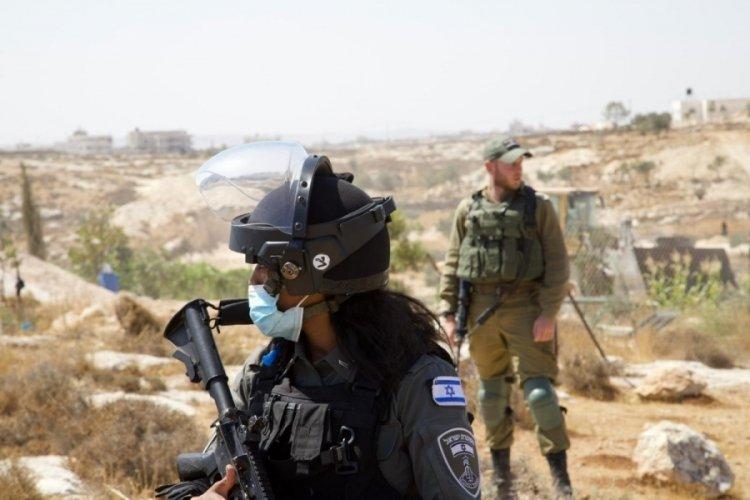 İsrail güçleri Filistinlilere ait tarım arazisine zarar verdi