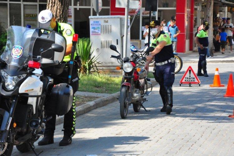Manisa'da 39 motosiklet trafikten men edildi