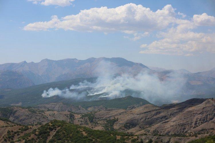 Tunceli'de örtü yangını çıktı!