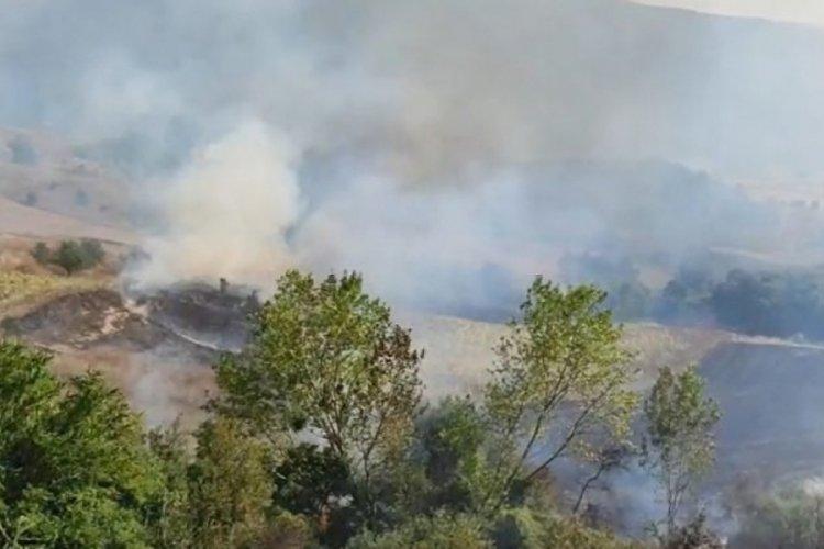 Bursa Mustafakemalpaşa'da yangın