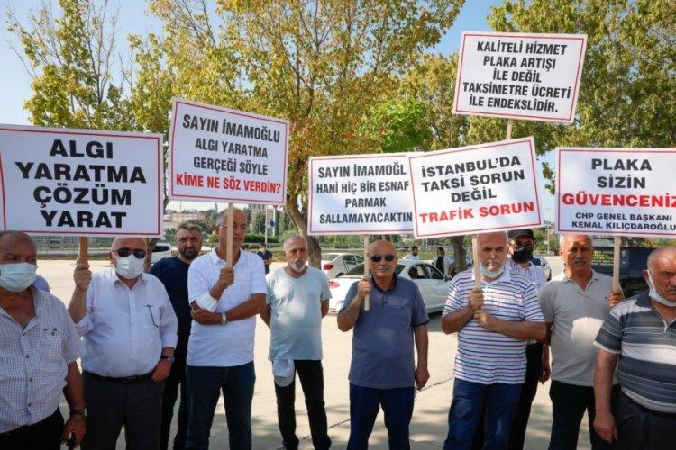 İstanbul'da taksiciler eylem yaptı