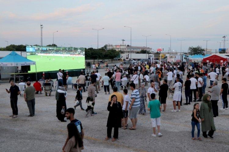 Kapıkule'de gurbetçilerin maç keyfi