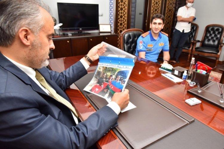 Kardeş itfaiyecilerden Bursa Büyükşehir Belediye Başkanı Aktaş'a ziyaret