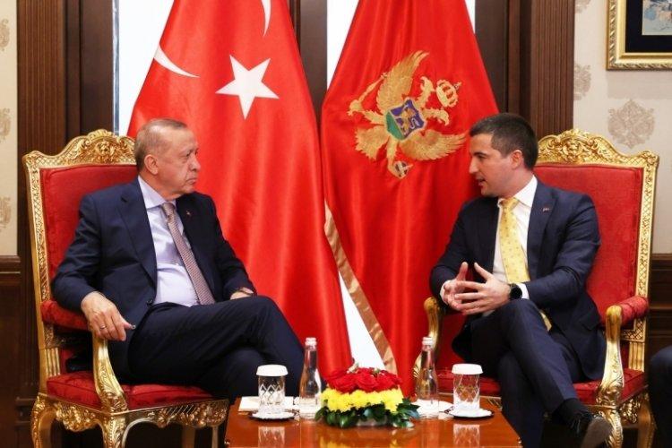 Cumhurbaşkanı Erdoğan, Karadağ Parlamento Başkanını kabul etti