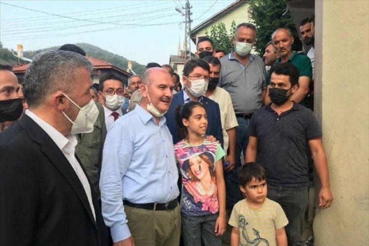 İçişleri Bakanı Soylu, sel bölgesinde incelemelerde bulundu
