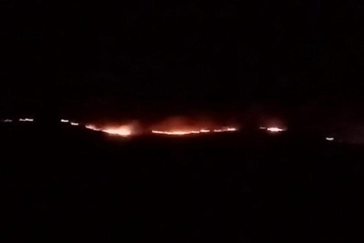 Kayseri'de makilik alanda yangın meydana geldi