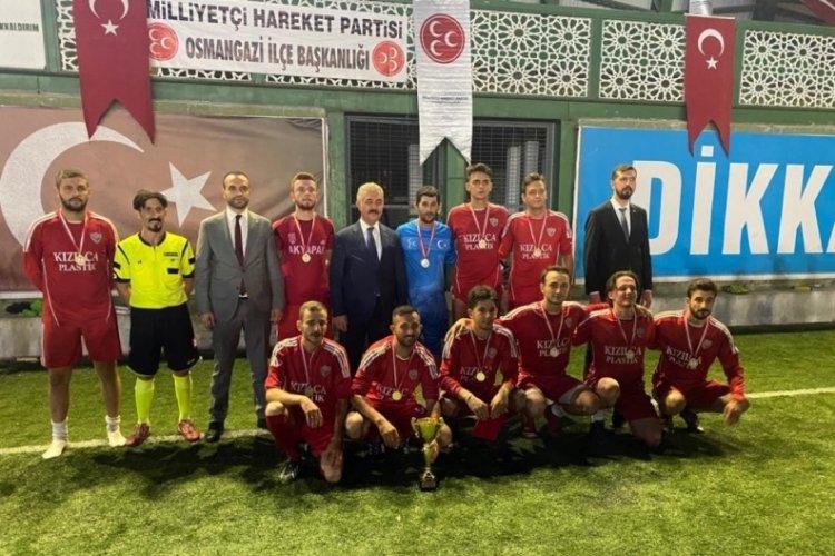 MHP 30 Ağustos Zafer Bayramı anısına Bursa'da futbol turnuvası düzenledi