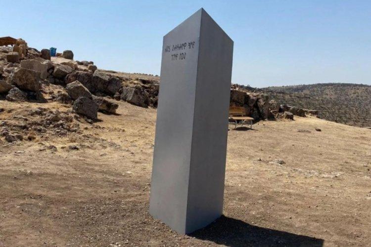 'Gizemli monolit' bu kez tarihi Zerzevan Kalesi'nde ortaya çıktı
