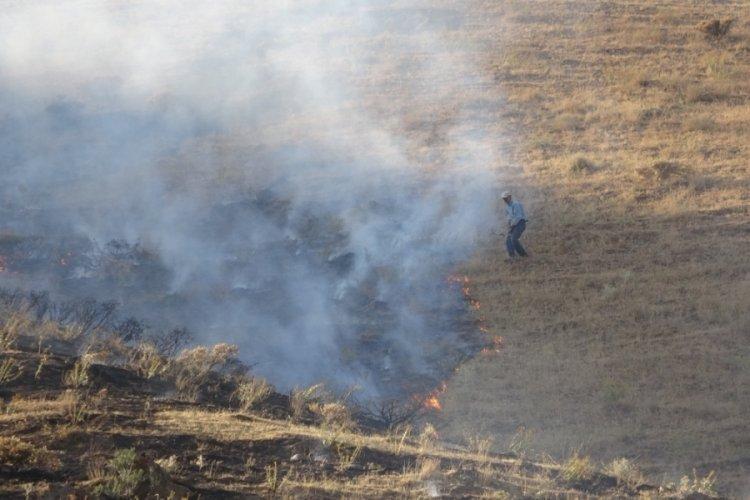 Bitlis'te örtü yangını kontrol altına alındı