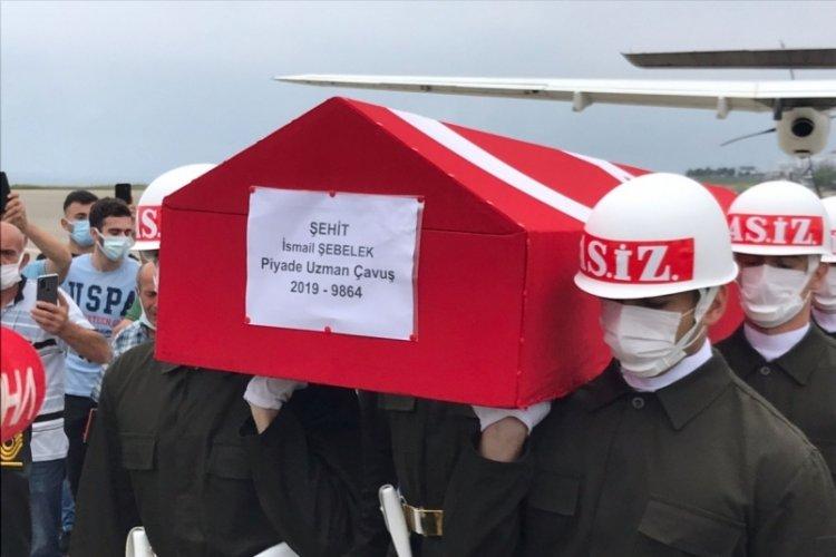 Şehit Uzman Çavuş Şebelek'in cenazesi, Trabzon'da
