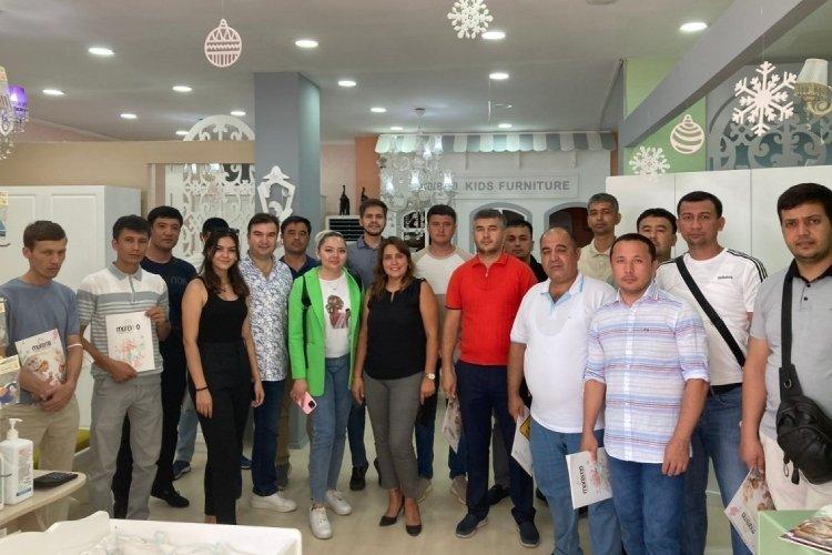 Özbek heyet Bursa Mobilyası'na hayran kaldı