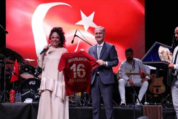 Bursa İnegöl'de zafer coşkusu Işın Karaca ile yaşandı
