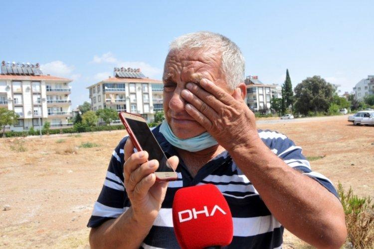 Antalya'da oğluna yardım eden genç ölümden döndü