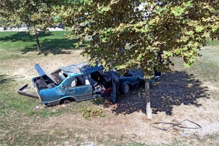 Otomobil kontrolden çıkarak şarampole yuvarlandı: 4 yaralı